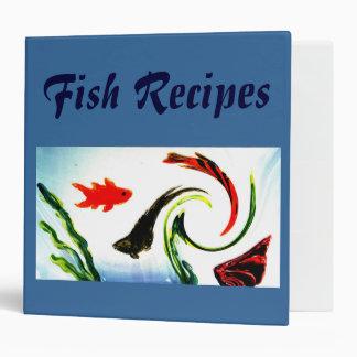 Swirly Fish Art Binder