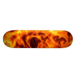 Swirly Flames Skateboard Deck