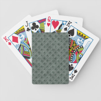 Swirly Floor Plate With Polka Dots On Hunter Green Bicycle Poker Deck