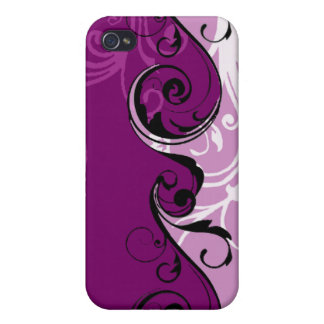 Swirly Floral Design Case For iPhone 4