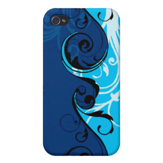 Swirly Floral Design iPhone 4 Case