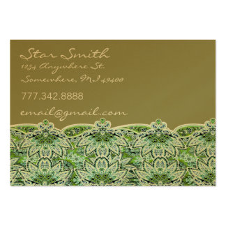 Swirly Floral Paisly Sage Green Business Card Templates
