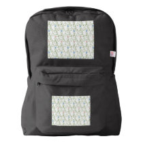 Swirly Floral Stars Backpack