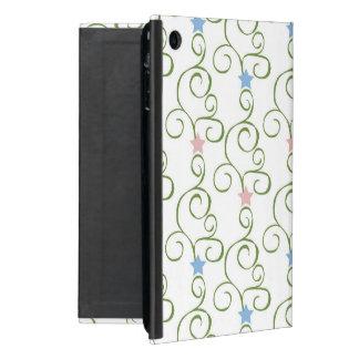Swirly Floral Stars Case For iPad Mini