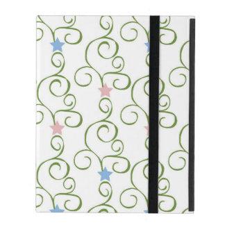 Swirly Floral Stars iPad Covers