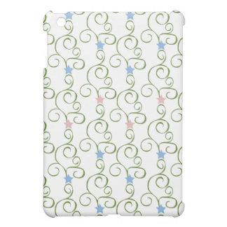 Swirly Floral Stars iPad Mini Cover