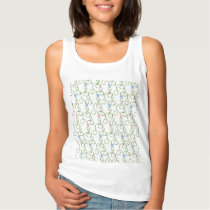 Swirly Floral Stars Tank Top