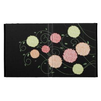 Swirly florece la caja del folio de IPAD Caseable