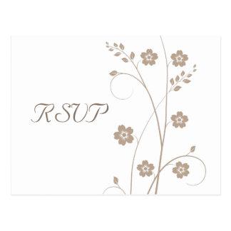 Swirly florece postal de RSVP