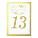 """Swirly Flourish with Outline 5x7 Table Card white 5"""" X 7"""" Invitation Card"""
