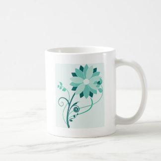 Swirly Flower Classic White Coffee Mug