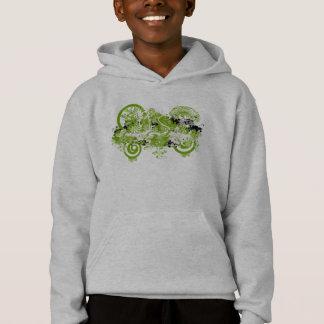 Swirly Flower Design Hoodie