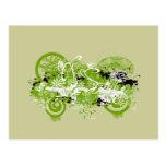 Swirly Flower Design Postcard