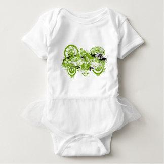 Swirly Flower Design T Shirt