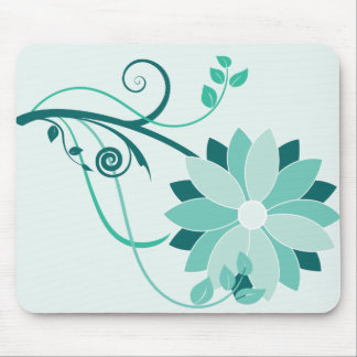 Swirly Flower Mouse Pad