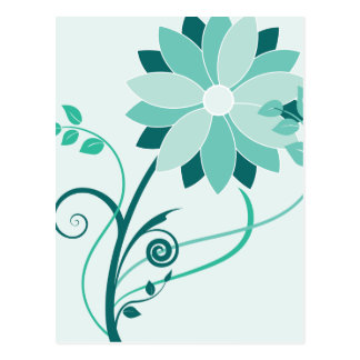 Swirly Flower Postcard