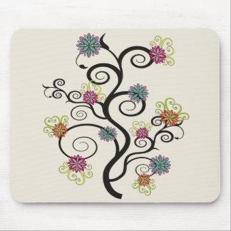 Swirly Flower Tree Mousepad