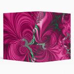 Swirly · Fractal Art · Pink & Green 3 Ring Binder
