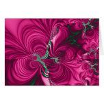 Swirly · Fractal Art · Pink & Green Greeting Card