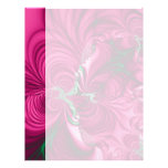 Swirly · Fractal Art · Pink & Green Customized Letterhead
