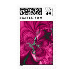 Swirly · Fractal Art · Pink & Green Postage Stamps
