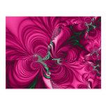 Swirly · Fractal Art · Pink & Green Postcards