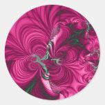 Swirly · Fractal Art · Pink & Green Stickers