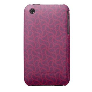 Swirly fractales trippy magentas púrpuras de las Case-Mate iPhone 3 funda