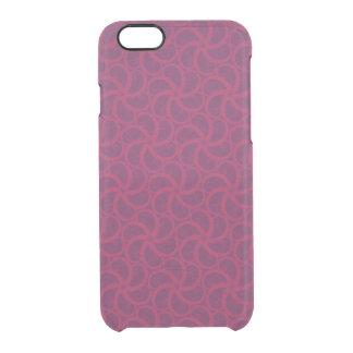 Swirly fractales trippy magentas púrpuras de las funda clearly™ deflector para iPhone 6 de uncommon