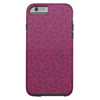 Swirly fractales trippy magentas púrpuras de las funda de iPhone 6 tough