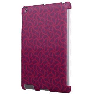 Swirly fractales trippy magentas púrpuras de las funda para iPad