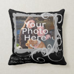 Swirly Frame Custom Photo Mother's Day Pillow