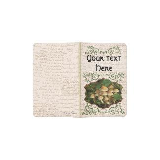 Swirly Framed Toadstool Mushrooms Pocket Moleskine Notebook