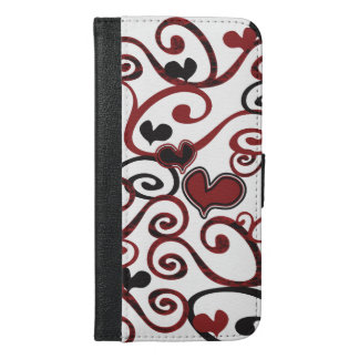 Swirly Girly Love © Hearts iPhone 6 Plus Case