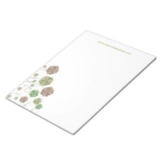 Swirly Girly Modern Flower Designer Business Pad Memo Pads