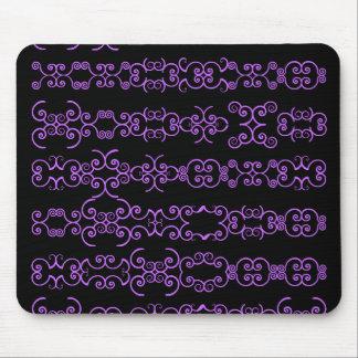 Swirly girly mousepads