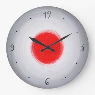 Swirly Grey/White with Red Centre>Wall Clock