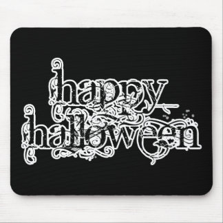 Swirly Grunge Happy Halloween Mouse Pad