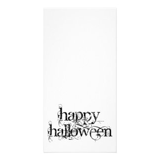 Swirly Grunge Happy Halloween Photo Card
