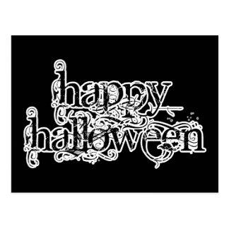 Swirly Grunge Happy Halloween Postcard