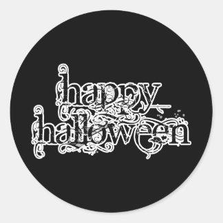 Swirly Grunge Happy Halloween Stickers