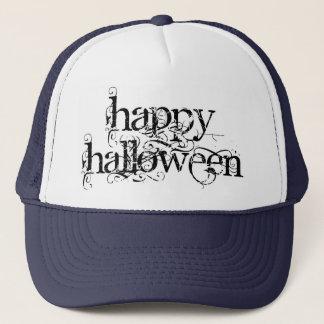 Swirly Grunge Happy Halloween Trucker Hat