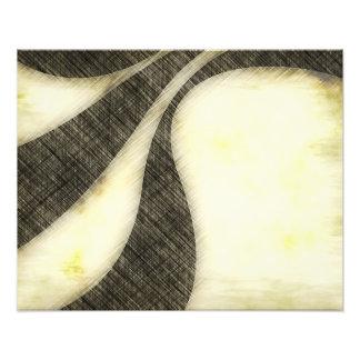 Swirly Grunge Sepia Layout Art Photo