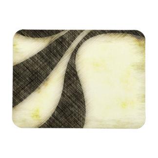Swirly Grunge Sepia Layout Magnet
