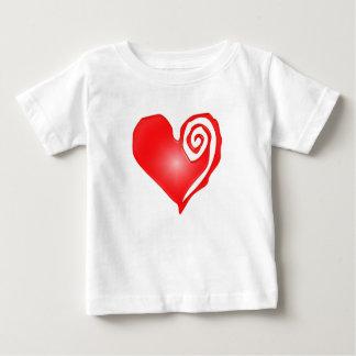 swirly heart  on black or white baby T-Shirt