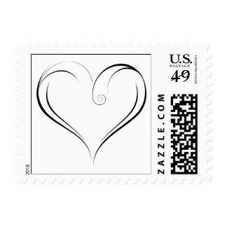 Swirly Heart Postage