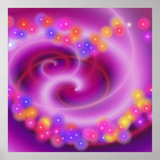 Swirly Heart Poster