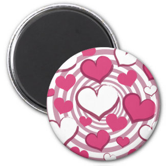 Swirly Hearts Magnet