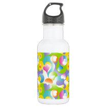 Swirly Hearts Stainless Steel Water Bottle