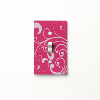 Swirly Lavender Switch Plate Cover